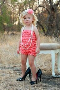lace. ruffles. little girl.  can it get any cuter?