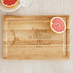 Eat Drink & Be Married Cutting Board   Personal Creations  (Great Wedding Gift)