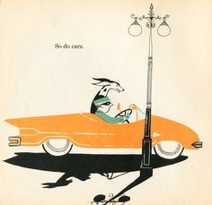 So Do Cars. From Adrienne Adams' What Makes A Shadow, 1960.