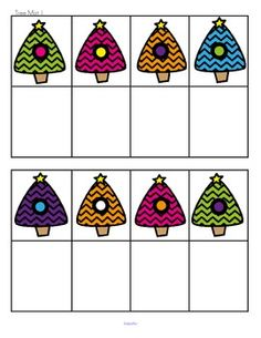 FREE Cut and paste tree cards to match 16 trees on 2 mats.  Can be used as a center – print on card and laminate.  Offer 1 or 2 mats to differentiate. 4 pages