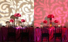 Modern Fuschia with Black Lace Design by Victoria's Florals on IndianWeddingSite.com