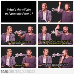 Marvel Movie Actor Fail. Chris Evans is still amazing , though :)