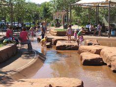 kids enjoying the water at Town Square Park in St George Utah