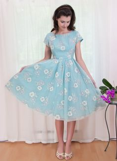 what a pretty little thing you are #vintage #dress