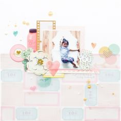 How to create your own unique background - by Jessy Christopher for Maggie Holmes Design Team. #cratepaper #maggieholmes #styleboard #scrapbooking