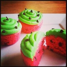 Watermelon cupcakes :)
