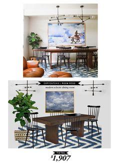 Modern eclectic dining room for $1907 by @audreycdyer #copycatchicroomredo #roomredo