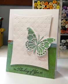Thinking of You- embossed card