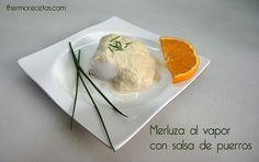 merluza con salsa de puerros Merluza con salsa de puerros
