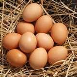 Cage free eggs.  Happy hens lay good eggs.