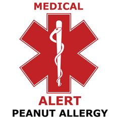 Peanut Allergy Temporary Tattoos