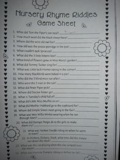 Baby Shower Games, Prizes And Gifts At Baby Showers - Baby Shower Templates