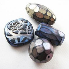 Frosted facet polymer clay beads picture tute.  #polymer #clay #tutorial