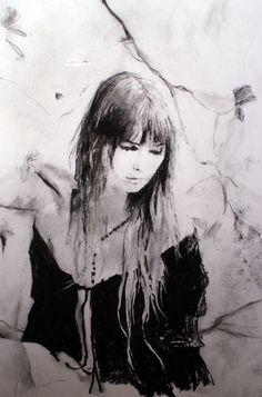 """Saatchi Online Artist: Kristian Mumford; Charcoal, Drawing """"The Daniad"""""""