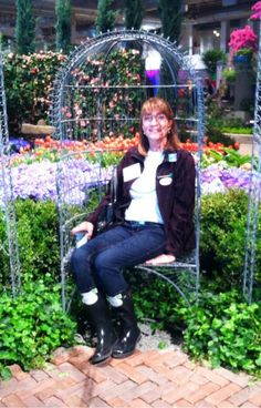 Our friend Carol at the Chicago Flower and Garden Show! #gardenchat