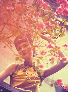 """Jia Jing in """"Going East Part 1"""" for ELLE Vietnam, photographed byPhuong My & Yin Chao."""