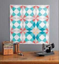 """Meet the """"Vintage Quilt Revival"""" Quilts: Cut Glass Baby Quilt kati clark, vintag quilt, vintage quilts, babi quilt, baby quilts, book, quilt reviv, glass babi, cut glass"""