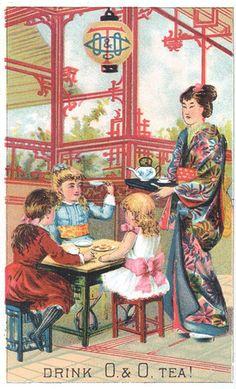 Ephemera Society of America, Drink O. & O. Tea ad, 1870s, via Flickr.