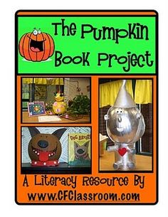 This is such a cool fall project! For their fall book project, students decorate a pumpkin into their literacy character of choice!! - - rePinned by #PediaStaff.  Visit http://ht.ly/63sNt for all our pediatric therapy pins