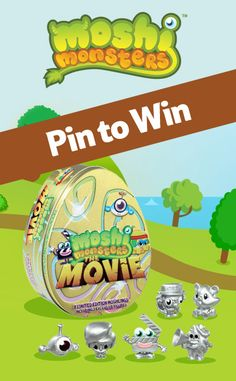 Pin to be in with a chance of winning a Moshi Monsters: The Movie Tin. The offer's only open to UK residents, and ends 12/12/13. Happy Pinning!