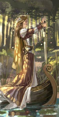#Alaistair_Fell #Lady_of_Shallot #art
