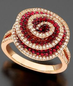 rubies and diamonds ring