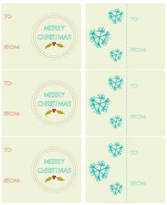Hand drawn holiday labels Free Printables..