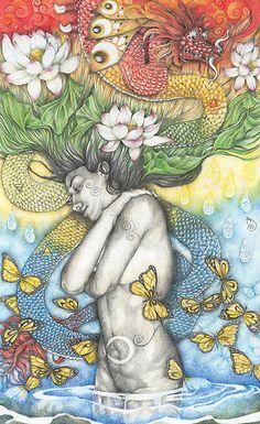 The Chemistry (Metamorphosis) by Patricia Ariel #visionaryart #art #beautiful #visual #trippy #psychedelic #sacred