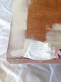 Bondo to repair veneer