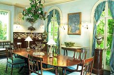 Madame Castaing's dining room at Leves