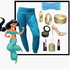 Jasmine | 8 DIY Disney Costumes diy costumes, easy diy disney costume, halloween costumes, fashion styles, costum idea, halloween diy, costume halloween, disney costumes, jasmine costume diy