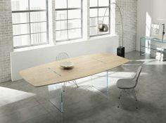 contemporary wooden table TAVOLANTE by Marco Gaudenzi TONELLI Design