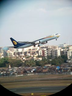 Binoculars Magic : Jet Airways aircraft, captured by our fan, Mr. Narendra Chaure.
