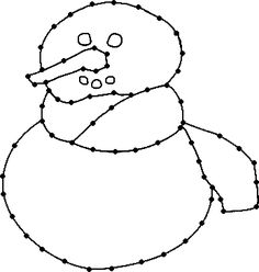 Borduurkaart knutselen: sneeuwpop