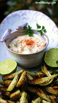 Roasted Brussels Sprouts with Spicy Garlic Aioli