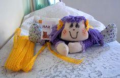 Boneca de pano para o Dia das Crianças. Aprenda o passo a passo: http://migre.me/hpRCA