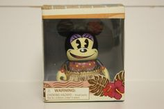 "BRAND NEW 2014 HAWAII Disney Store 3"" Hula Minnie Mouse Vinylmation Figurine"