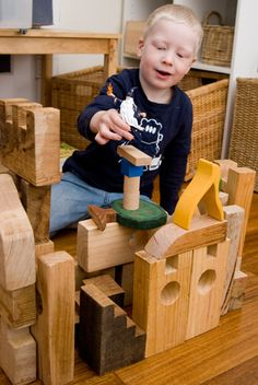 Blocks help to develop hand-eye coordination and learn spatial awareness.