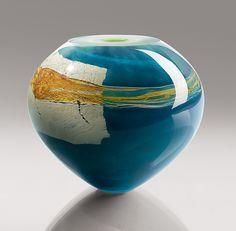 Mykannos: Randi Solin: Art Glass Vase - Artful Home