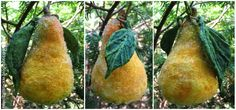 Belznickle Blogspot : Craft a Pear From Spun Cotton Batting