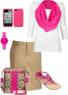 """Pretty in Pink"" by hannahtay96 ❤ liked on Polyvore"