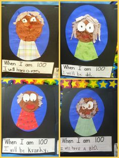 100th Day of School Art & writing - when I am 100 I will be  _______ .