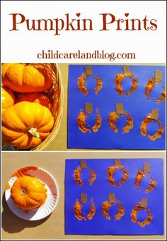 Pumpkin Prints - Pinned by @PediaStaff – Please Visit  ht.ly/63sNt for all our pediatric therapy pins