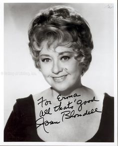 Joan Blondell Grease Joan blondell - inscribed photograph signed ...