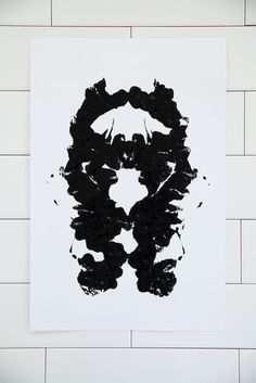 diy ink blot art