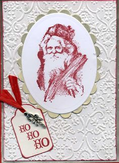 Traditional Santa christma card, tradit santa