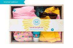 Honest Pineapple Sun + Fun Gift Set #sustainable #gift #UPF50 #summer #sun