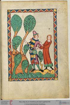 Cod. Pal. germ. 848: Große Heidelberger Liederhandschrift (Codex Manesse) (Zürich, ca. 1300 bis ca. 1340), Fol 395r