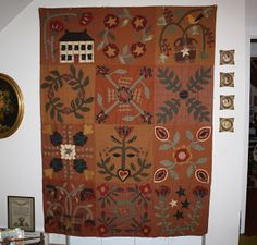 Tom Miner Quilts and Folk Art / Baskets, Berries & Leaves / Jan Patek & Alma Allen