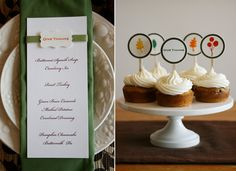 DIY Letterpressed Thanksgiving Menus and cupcake toppers - so elegant! by Lifestyle Crafts